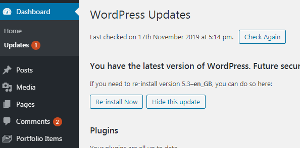 Real Internet Wordpress Updates