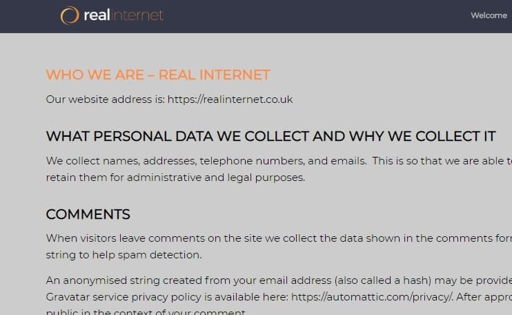 Real Internet privacy