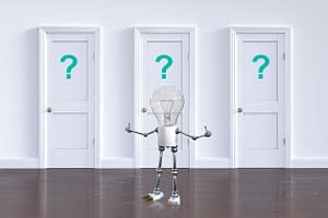 website-design-question-mark-lightbulb-doors