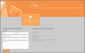 Real Internet example of web design mistakes - contact us